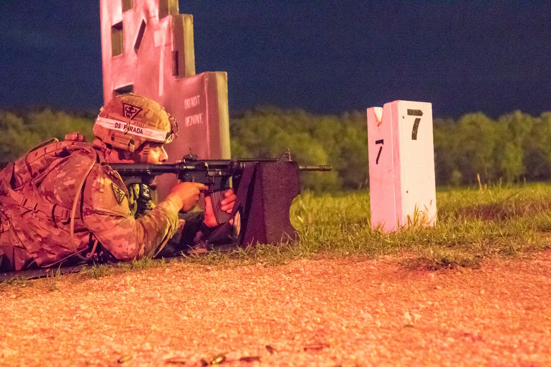 2021 U.S. Army Reserve Best Warrior Competition – M4 Carbine, Night Fire Qualification
