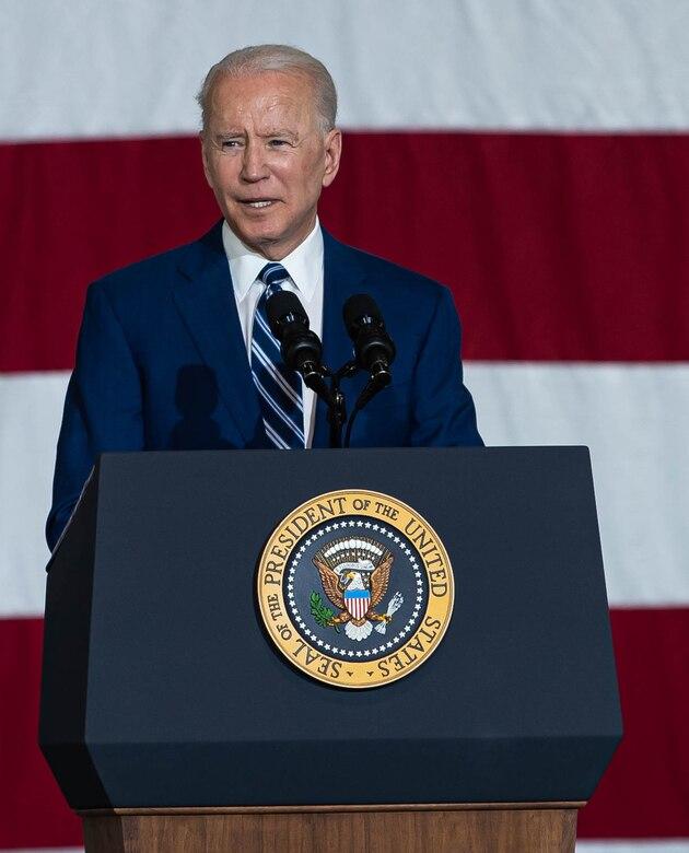 President Joe Biden visited Joint Base Langley-Eustis, Virginia.