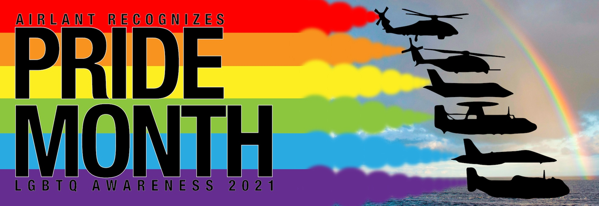 Rainbow banner for Pride month