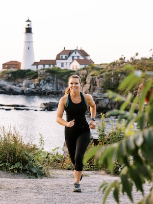 Ensign Kathleen Spotz, stationed at Sector Northern New England in South Portland, Maine, was named the 2020 Coast Guard Female Athlete of the year in recognition of her superior performance as a runner. Recently, Spotz ran across the entire state of Maine in just over 30 hours—becoming the first person ever to do so!