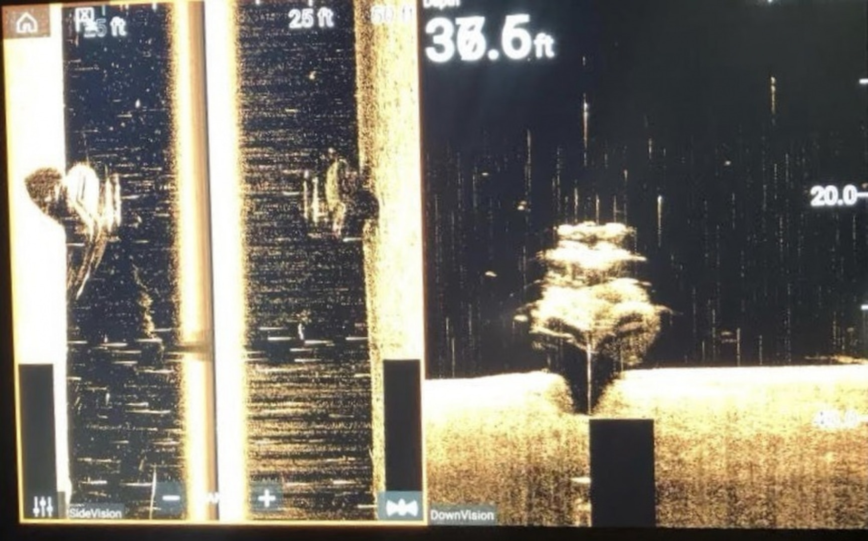Sonar image depicting a sunken vessel on the James River in Virginia, May 27, 2021. (Photo by Chesterfield County Virginia Marine Team/Released)
