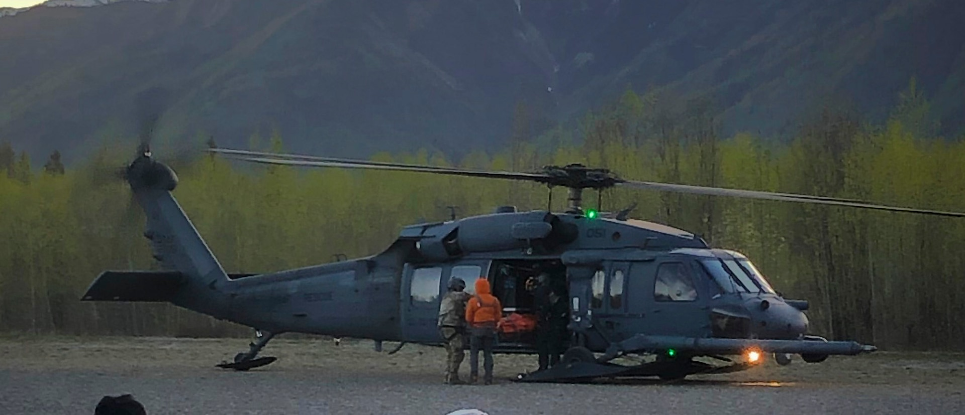 Pararescue personnel with the Alaska Air National Guard's 210th Rescue Squadron used an HH-60 Pave Hawk helicopter like this one in the search for 12 mountaineers stranded in poor weather on Klutlan Glacier southeast of Mt. Bona in Wrangell-St Elias National Park. The mountaineers were rescued June 1 after the 1st Battalion, 207th Aviation Regiment, dispatched an Alaska Army National Guard CH-47 Chinook with a paramedic from the 2nd Battalion, 211 Aviation Regiment.