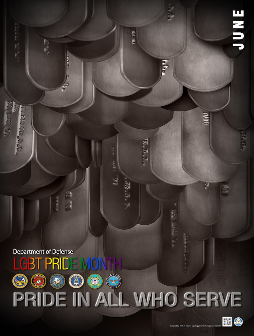 Pride in All Who Serve Pride Month Poster
