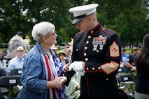 U.S. Marine Corps Sgt. Maj. Troy E. Black, the 19th sergeant major of the Marine Corps, attends the Memorial Day name addition ceremony at the Vietnam Veterans Memorial in Washington, D.C., May 31, 2021. The ceremony was held to honor the families and their service members who died in the Vietnam War. Memorial Day serves as a remembrance for all veterans who fought and died in service to the Nation. (U.S. Marine Corps photo by Sgt. Victoria Ross)