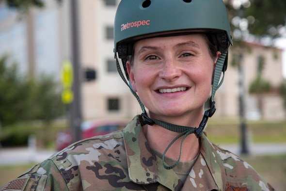 U.S. Air Force Tech. Sgt. Shawna Wise, 6th Force Support Squadron Airman Leadership School (ALS) lead instructor, smiles for a photo at MacDill Air Force Base, Florida, May 26, 2021. As the lead ALS instructor at MacDill, Wise guides her students through the curriculum and leads her team of instructors to set an example for MacDill's newest leaders.