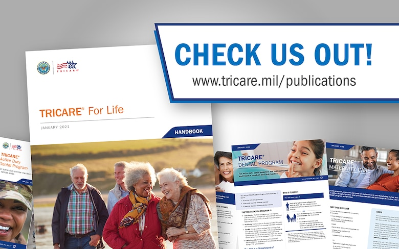Cover of various TRICARE publications
