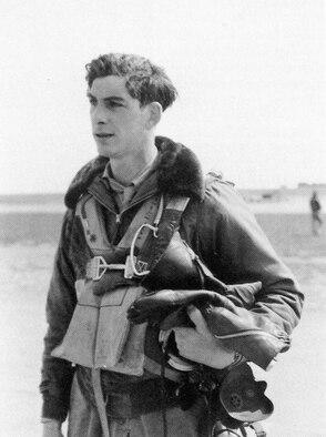 Captain Bernard Louis McGrattan before an unspecified flight.