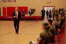 Retired General and former Secretary of Defense, James Mattis, visits Headquarters and Service Battalion, Fleet Marine Force Atlantic, U.S. Marine Corps Forces Command