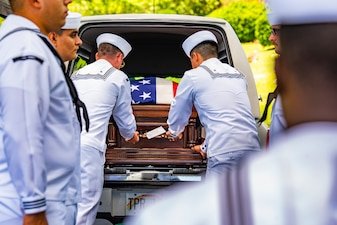 Seaman 1st Class Camillus M. O'Grady is laid to rest at the National Memorial Cemetery of the Pacific in Honolulu, Hawaii.