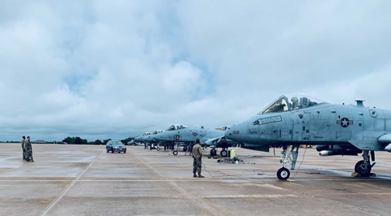 A photo of A-10s