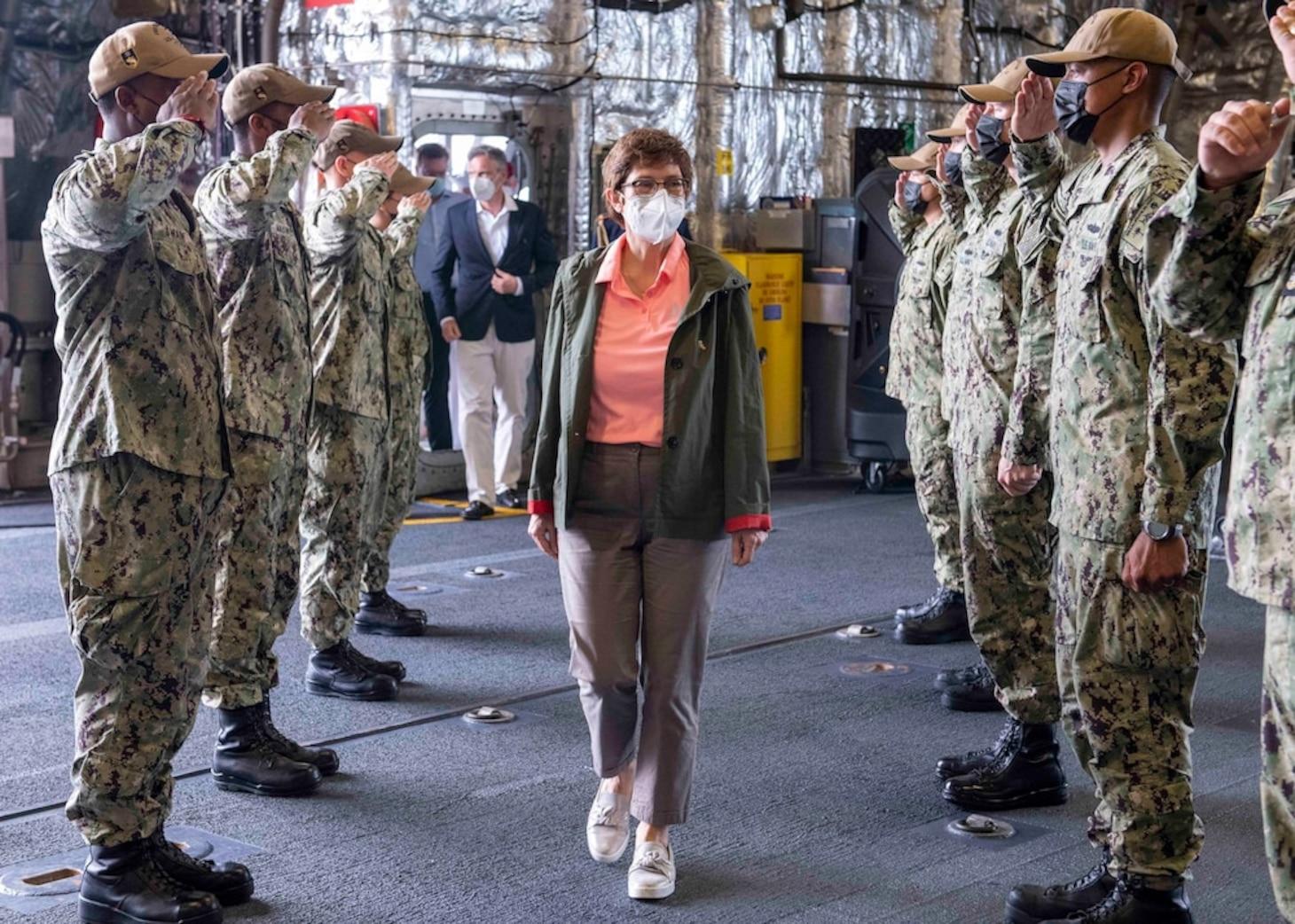 U.S. Navy Littoral Combat Ship hosts German Defense Minister