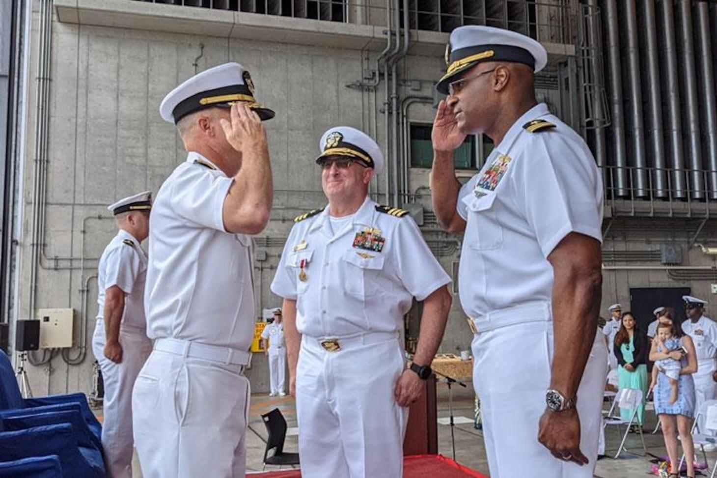 Naval Beach Unit 7 changes command