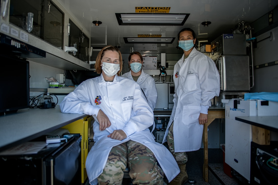 773rd Civil Support Team administers mobile COVID testing during DEFENDER-21