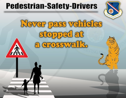 Graphic of a woman and children standing in a crosswalk.