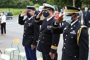 First Ceremony to Commemorate D-Day 77