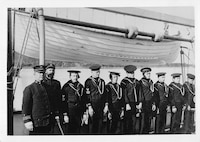 A photo of the crew of the cutter Manning