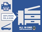 Copy, scan, print and fax with one multi-functional device.