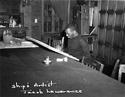 A photo of noted artist Jacob Lawrence