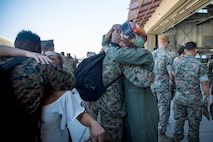 The 15th MEU returned from a seven-month deployment to the U.S. 3rd, 5th, 6th, and 7th Fleet areas of operation, serving as a crisis-response force for combatant commanders in the Africa, Central and Indo-Pacific commands. (U.S. Marine Corps photo by Lance Cpl. Matthew Romonoyske-Bean)