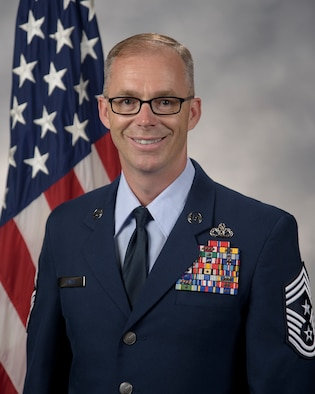 Chief Master Sgt. Timothy Bayes official photo.