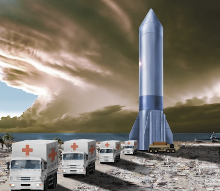 The Department of the Air Force announced June 4, 2021, the designation of Rocket Cargo as the fourth Vanguard program as part of its transformational science and technology portfolio identified in the DAF 2030 Science and Technology strategy for the next decade. (U.S. Air Force illustration)