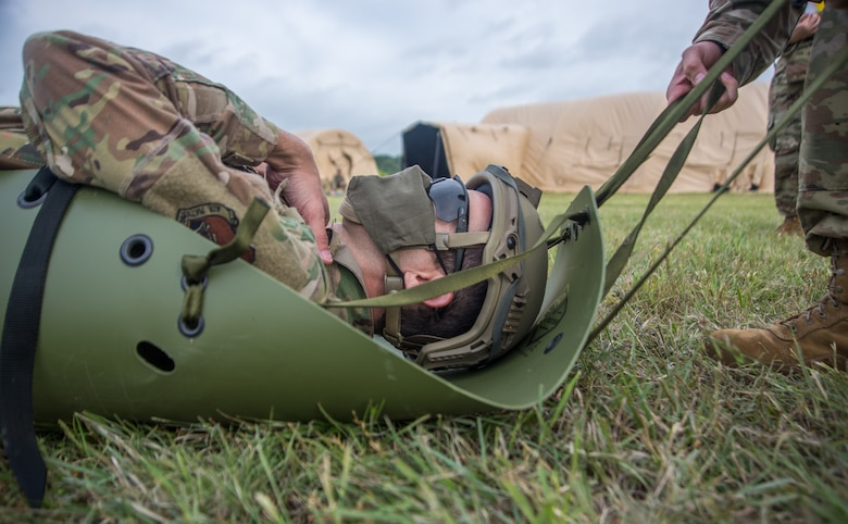 Airmen practice self-aid and buddy care