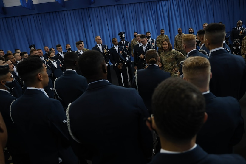 Chief Master Sergeant Bass visits the U.S. Air Force Honor Guard