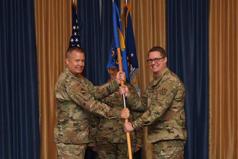 11th CES change of command ceremony