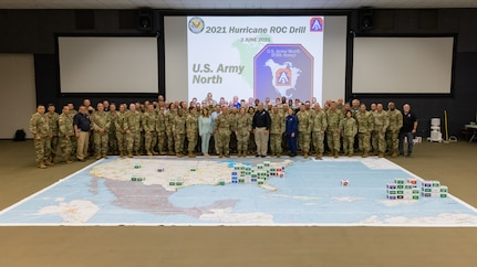 ARNORTH, the Army service component command of U.S. Northern Command, hosted military and civilian leaders at the ROC drill at Joint Base San Antonio-Fort Sam Houston, Texas on Thursday, June 3, 2021.