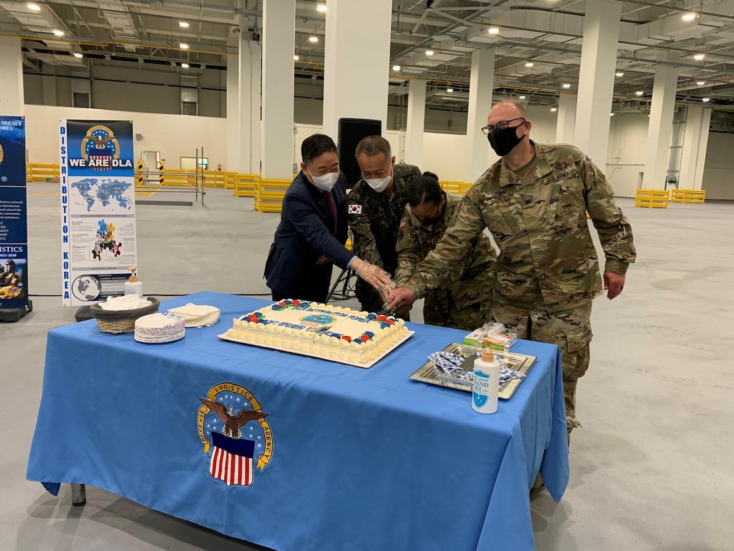 Modern Defense Logistics Agency Distribution warehouse opens at Camp Carroll