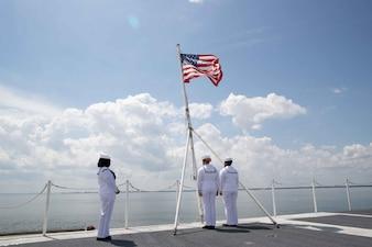 USS Gerald R. Ford (CVN 78) prepares to get underway for full ship shock trials.