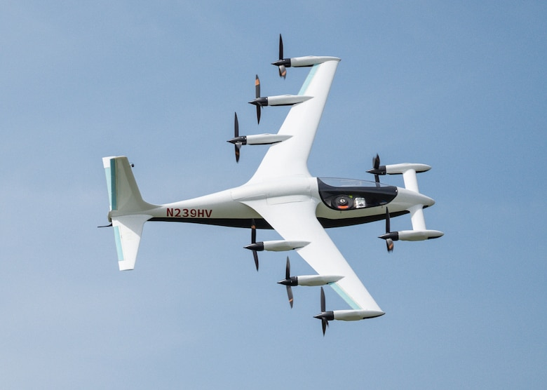image of test vehicle in flight