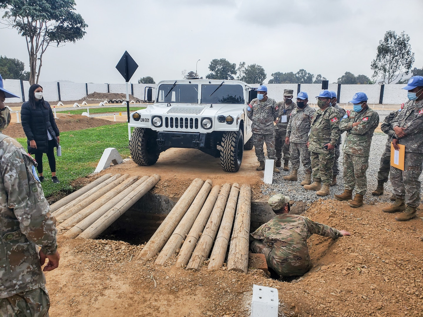 Members of the West Virginia National Guard provide Mechanics Mobile Training Team, Preventative Maintenance Checks and Services, and Driver's Training to members of the Peruvian Armed Forces on the M1165 HMMWV (High Mobility Multipurpose Wheeled Vehicle), as a part of the National Guard's State Partnership Program in Lima, Peru, June 3, 2021. Peru will utilize the training on international peacekeeping missions as part of the United Nations Multidimensional Integrated Stabilization Mission in the Central African Republic, conducting missions as diverse as clearing terrain, airfield and heliport construction, equipment transportation and convoy operations including food and water supplies, communications, intelligence, as well as legal and medical operations. (Courtesy photo)