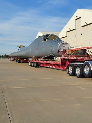 Wichita State University's National Institute for Aviation Research will dismantle the B-1B 86-0101 fuselage, remove all the paint and primer, and perform high fidelity inspections looking for cracks and corrosion. (Courtesy photo)
