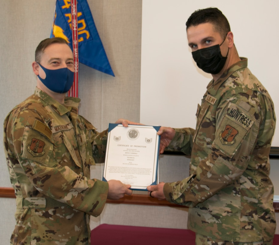 Kendall promoted to Technical Sergeant