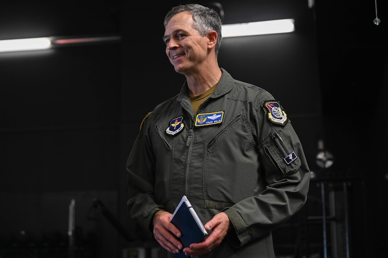 Maj. Gen. Wills and Chief Master Sgt. Rogers visit 33rd Fighter Wing