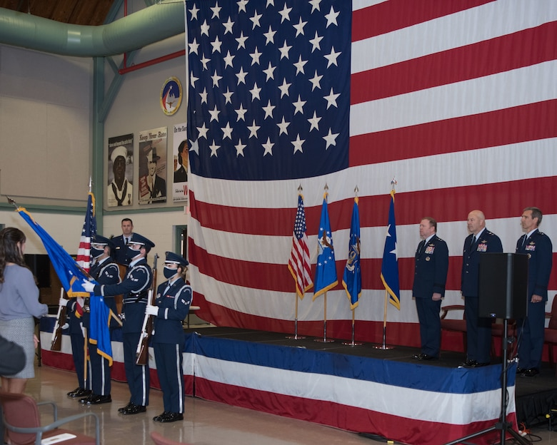 The Dyess Air Force Base Honor Guard presented the Colors at the Tenth Air Force Base Change of Command June 4, 2021.