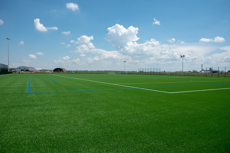 The new multi-purpose sports turf field located at Clay North.