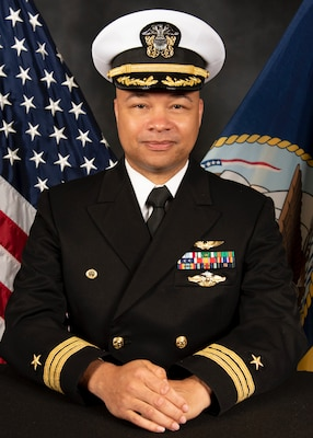 210608-N-XI761-004 SAN DIEGO (June 8, 2021) Official portrait of Cmdr. Marcus Moreland.  (U.S. Navy photo courtesy of Mine Warfare Training Center)