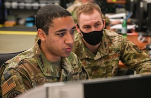 477th Fighter Group cyber Airmen participate in a Multi-Application Practical Learning Environment Range exercise June 5, 2021, at Joint Base Elmendorf-Richardson, Alaska