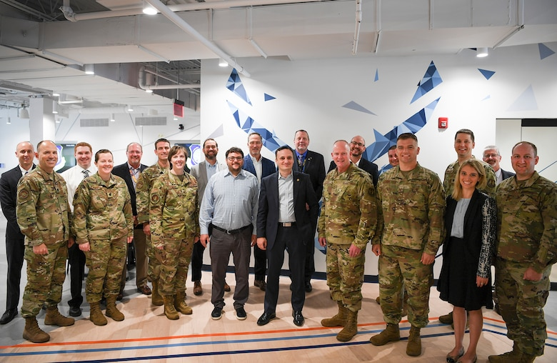 Air Force chief software officer visits Hanscom