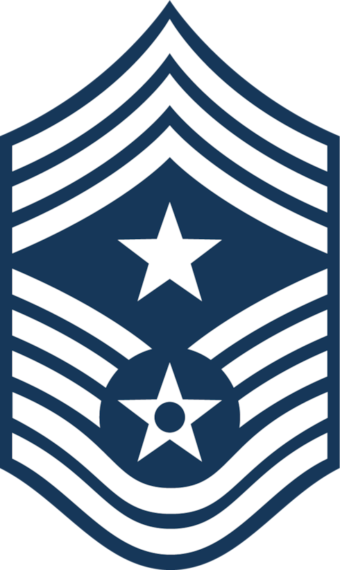 Command Chief Master Sergeant (Blue color), U.S. Air Force graphic