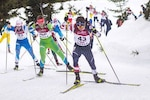 U.S. Army Spc. Vasek Cervenka, Headquarters and Headquarters Company, Garrison Support Command, Vermont National Guard, competing in the 12.5 KM Pursuit Race at the 2021 Junior World Championships in Obertilliach, Austria, March 3, 2021. Cervenka hopes to compete in the 2022 Olympics in Beijing, China.