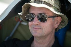 Pilot preparing for glider flight