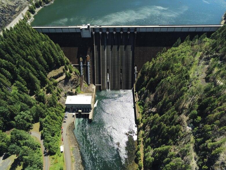 Detroit Dam Aerial View
