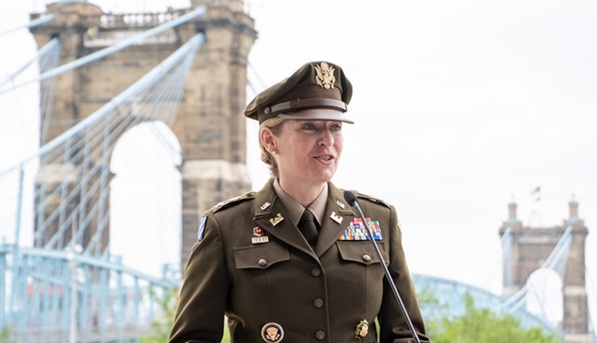 Col. Kim A. Peeples took command of the U.S. Army Corps of Engineers Great Lakes and Ohio River Division during a ceremony June 11, 2021 in Cincinnati, Ohio.