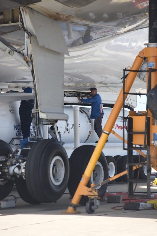 Photo of Pegasus launch process at Vandenberg