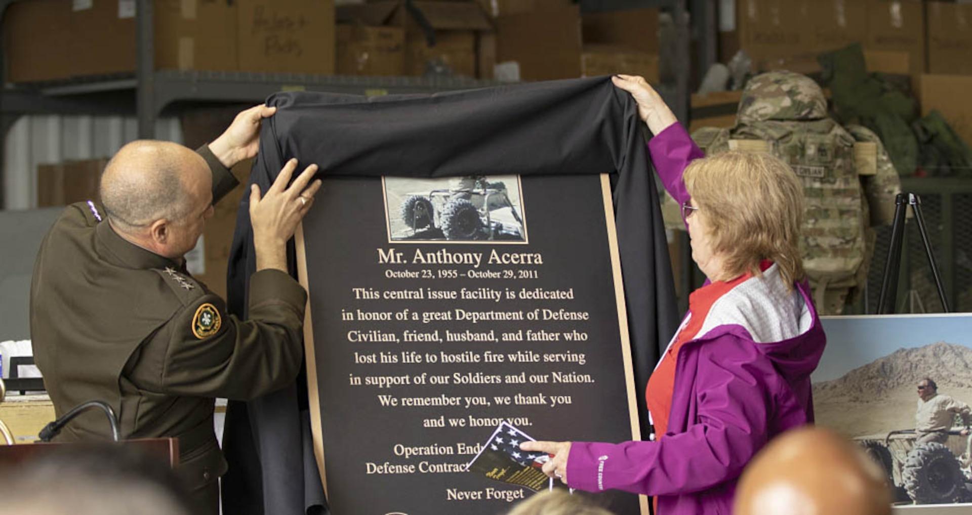Memorial for Mr. Acerra unveiled.