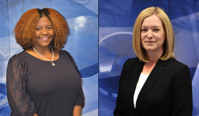 Erica Ignont, left, serves as the U.S. Army Space and Missile Defense Command deputy G-8, and Charlotte Berry serves as a financial specialist with the command's G-8 Resource Management, Audit, Systems and Policy Division. They were recently awarded their 2019 Assistant Secretary of the Army for Financial Management and Comptroller awards. Berry received the FM&C individual Audit Readiness Individual Award. Ignont, received the FM&C Best Execution Budget Division award on behalf of her team, comprising Jessica Grubbs, Shanda Robinson, Jeanetta Burwell, Wayne Bracy, Caitlyn Glynn, Alisha Johnson, Casey Perkins, Greta Wiley and Ernest McGlamry. Ignont was also named the 2020 ASA FM Education and Training Career Development Award winner.