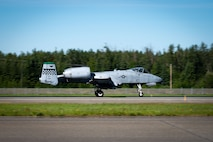 An A-10 Thunderbolt II assigned to the 25th Fighter Squadron, Osan Air Base, Republic of Korea, takes off during RED FLAG-Alaska 21-2 on Eielson Air Force Base, Alaska, June 14, 2021.